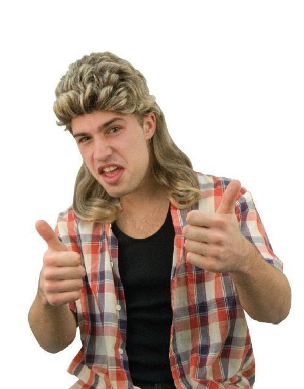 Billy Mullet Costume Wig