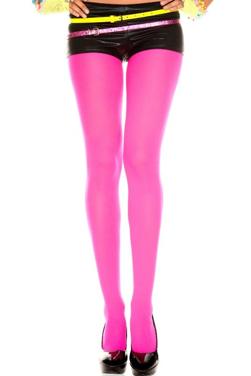 Hot Pink Opaque Tights