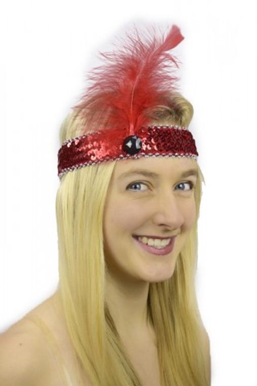Flapper Headpiece Red