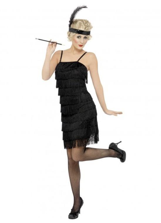 Black Fringed Flapper Costume