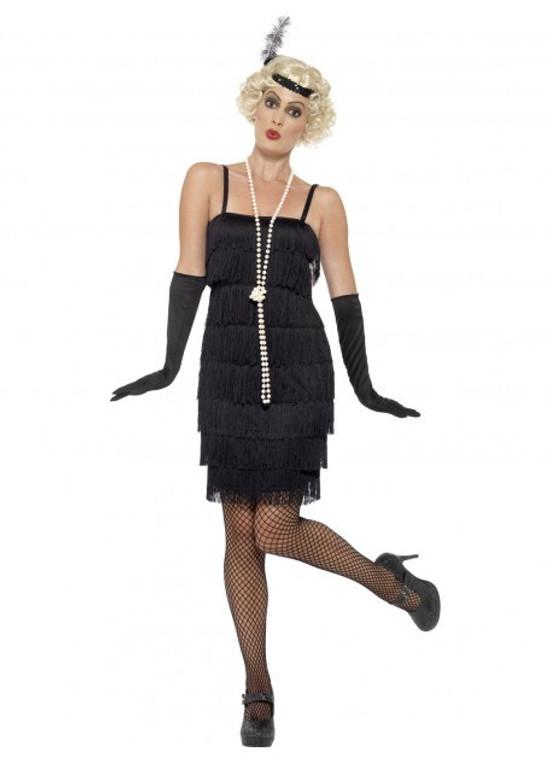 Short Black Flapper Costume