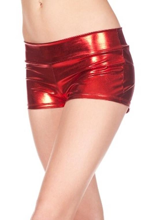 Red Metallic Hot Pants