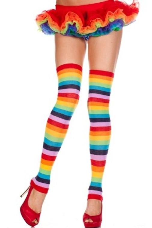 Footless Rainbow Leg Warmers