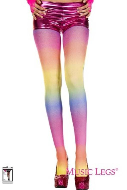 Opaque Rainbow Tights