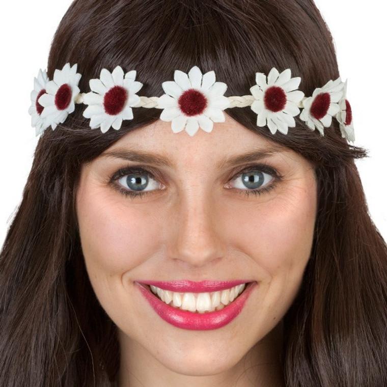Daisy Chain Headband White