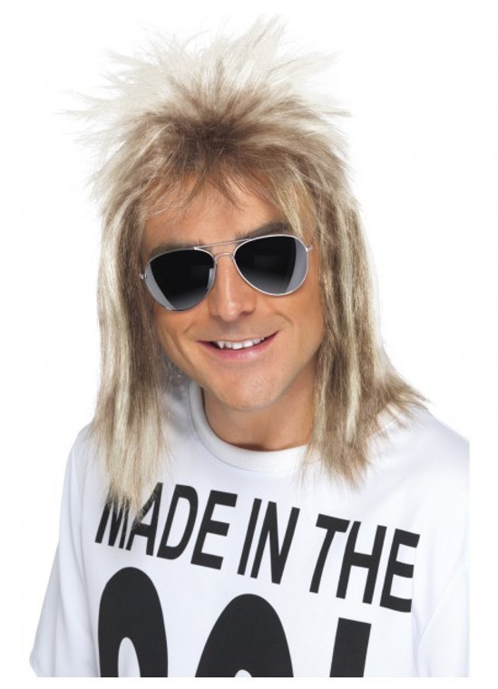 1980s Two Toned Blonde Mullet Wig