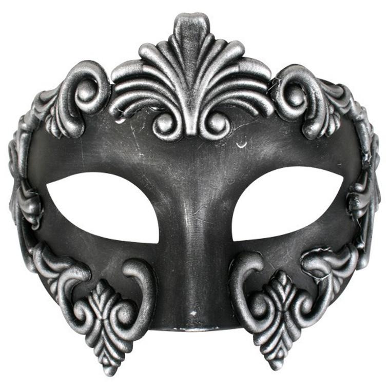 Lorenzo Silver And Black Masquerade Mask
