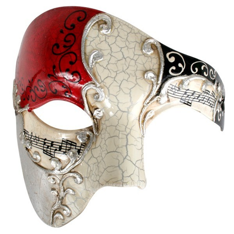 Maestro Red And Silver Masquerade Mask