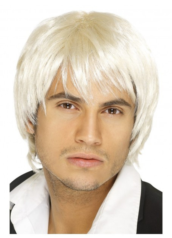 Blonde Boy Band Costume Wig