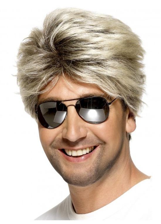 80's Ash Blonde Street Costume Wig