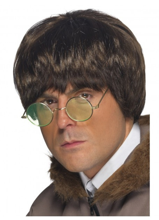 Britpop Brown Costume Wig