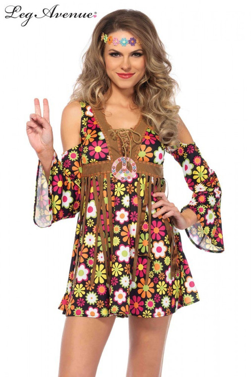 Star Flower Hippie Womens Costume