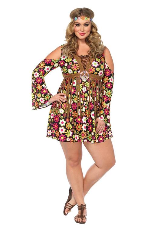 Star Flower Hippie Costume - Plus