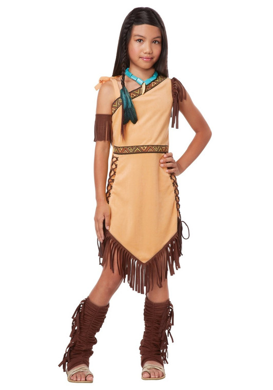 Native American Indian Princess Girls Costume
