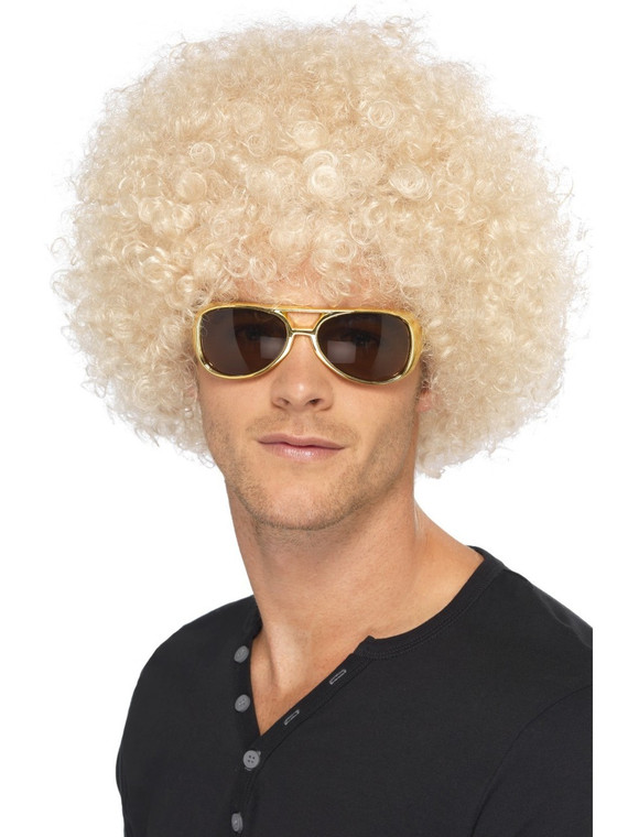 Blonde Funky 70's Afro Wig