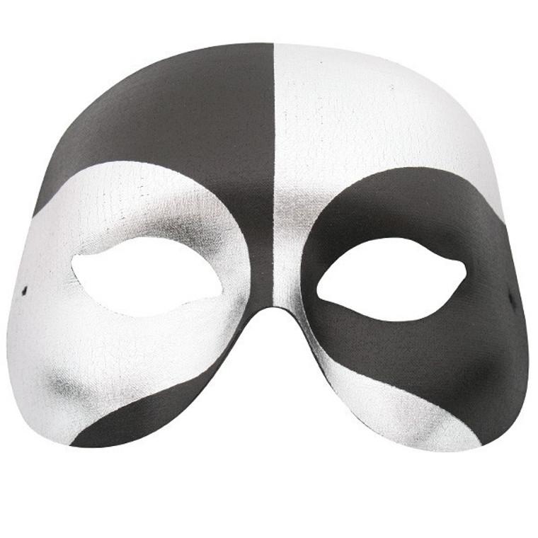 Voodoo Black & Silver Masquerade Mask