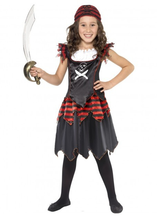 Pirate Skull and Crossbones Girls Costume
