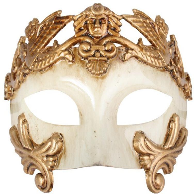 Antonio Roman Eye Mask - Ivory Gold