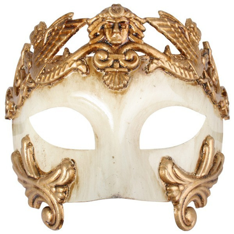 Antonio Roman Eye Mask - Ivory Gold