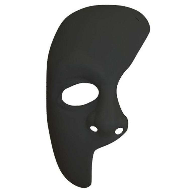 Phantom Of The Opera Mask - Black