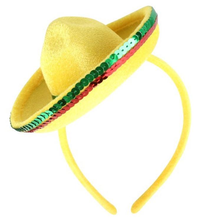 Mexican Mini Sombrero Hat On Headband
