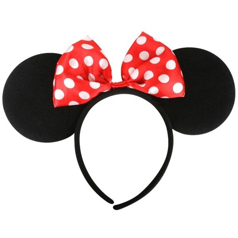 Minnie Mouse Ears with Bow Headband