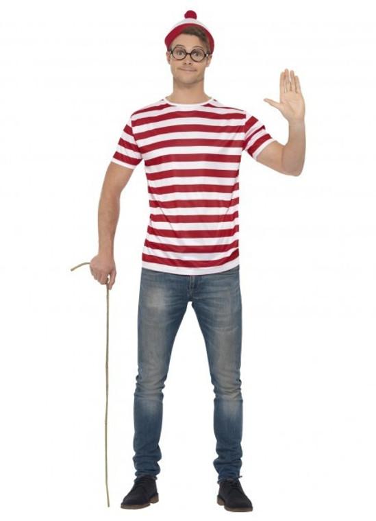 Where's Wally Costume Kit