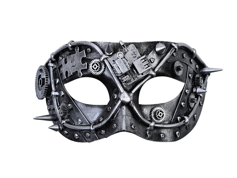 Silver Metallic Steampunk Mask