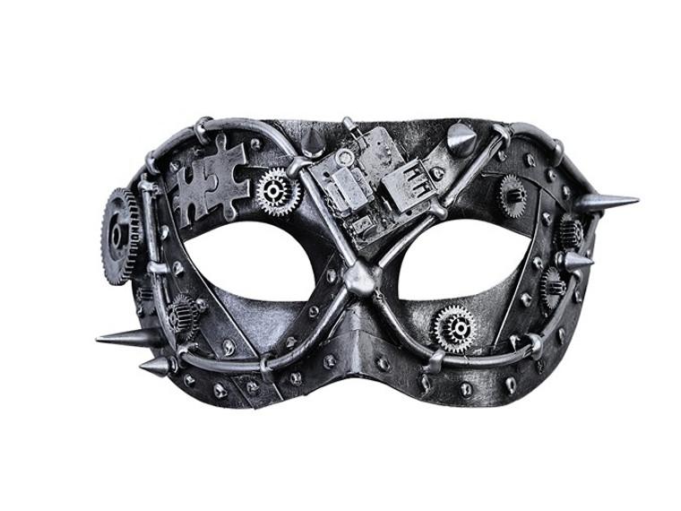 Silver Metallic Steampunk Mask