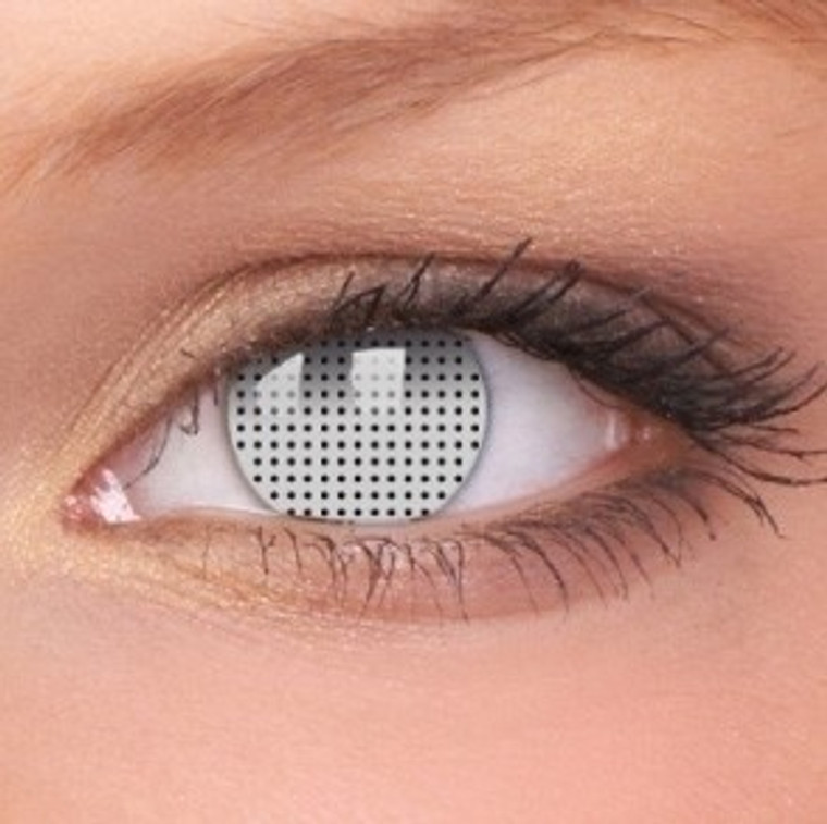 White Screen Crazy Contacts - 3 Month Use