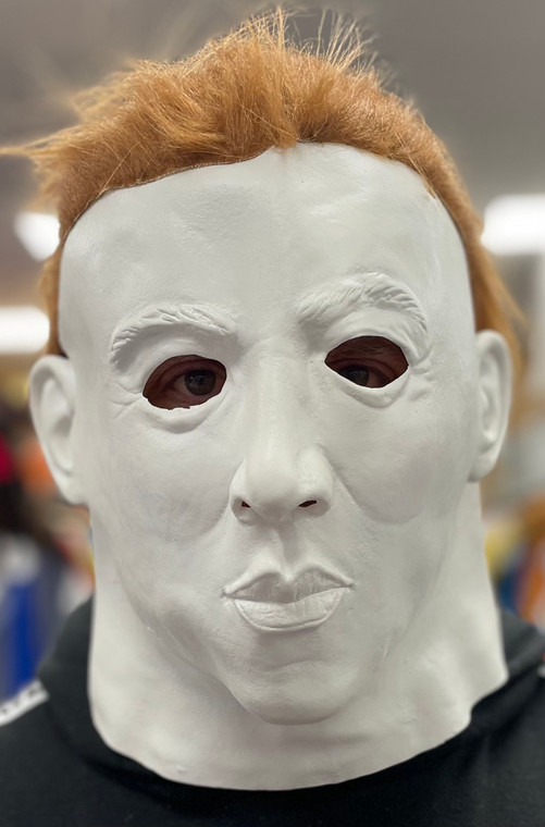 Michael Myers Latex Mask With Brown Hair