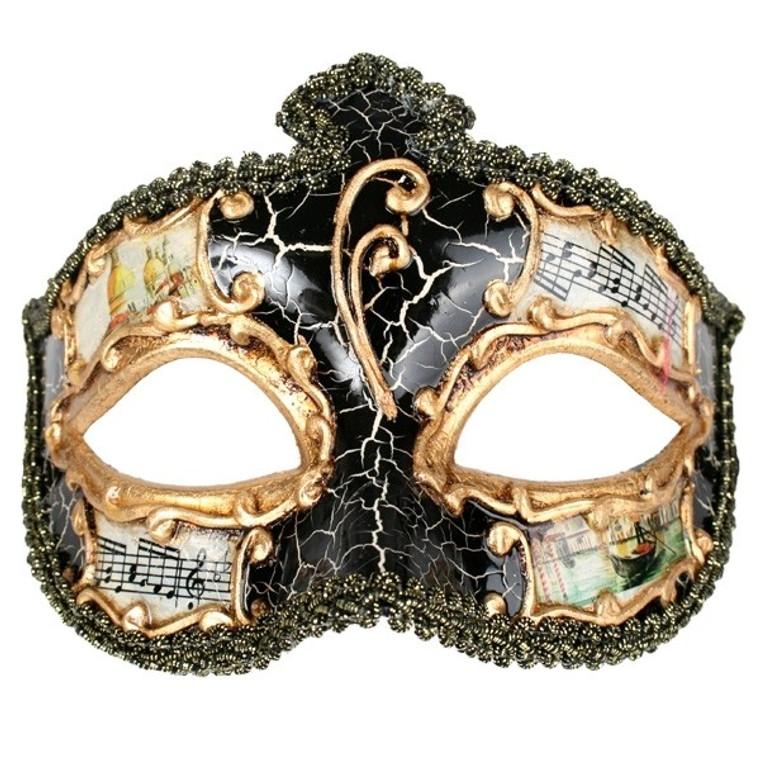 Masquerade Salvatore Black Costume Mask