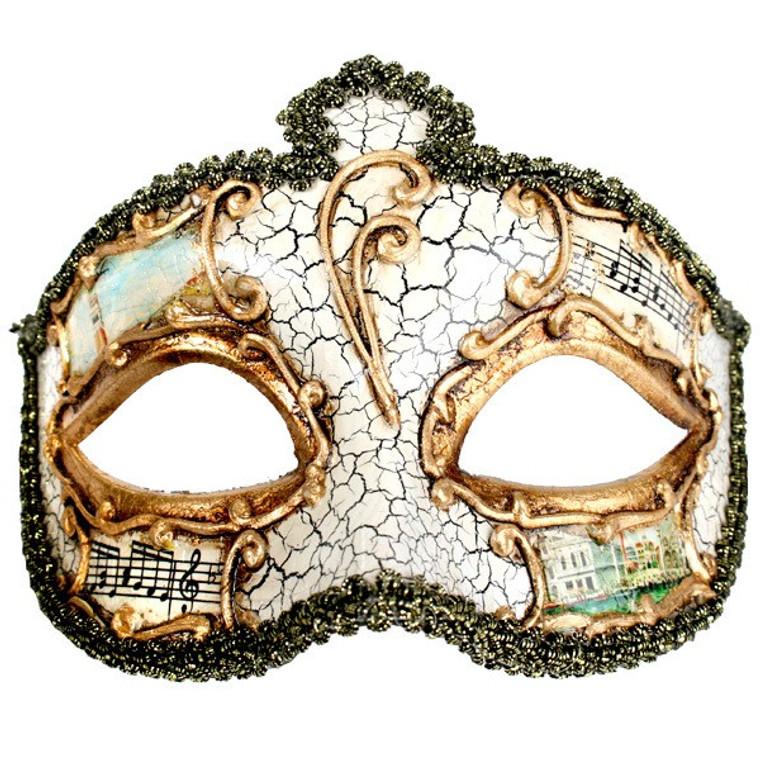 Creme Salvatore Masquerade Mask