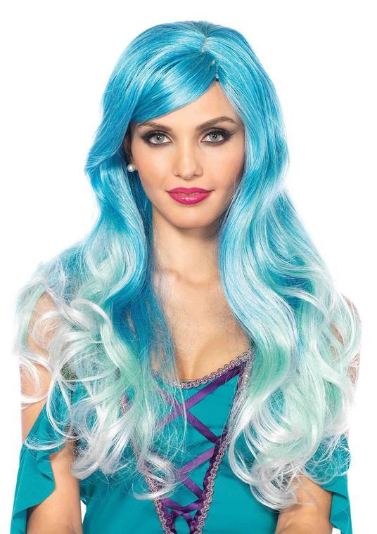 Two Toned Blue Mermaid Wavy Costume Wig