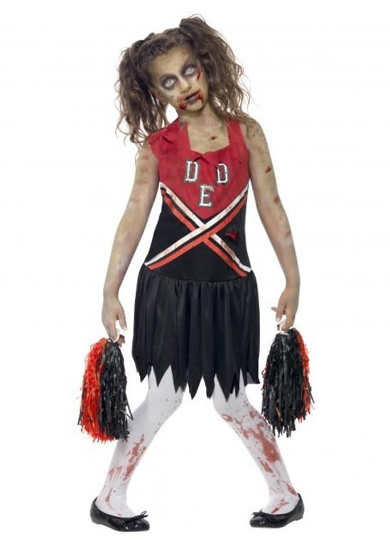 Zombie Cheerleader Girls Costume