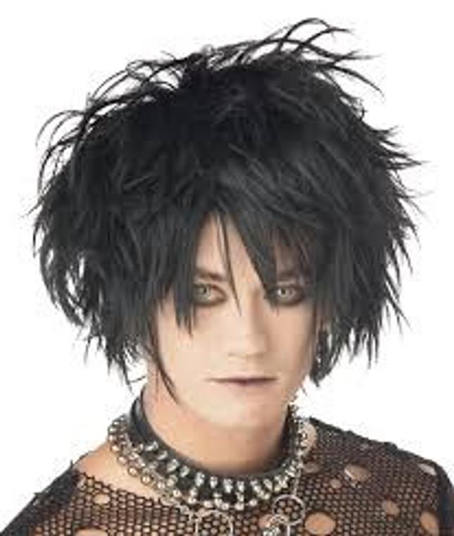 Midnight Fiend Black Costume Wig