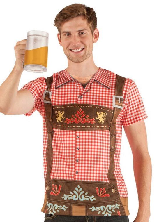 Oktoberfest Faux Real Mens Shirt