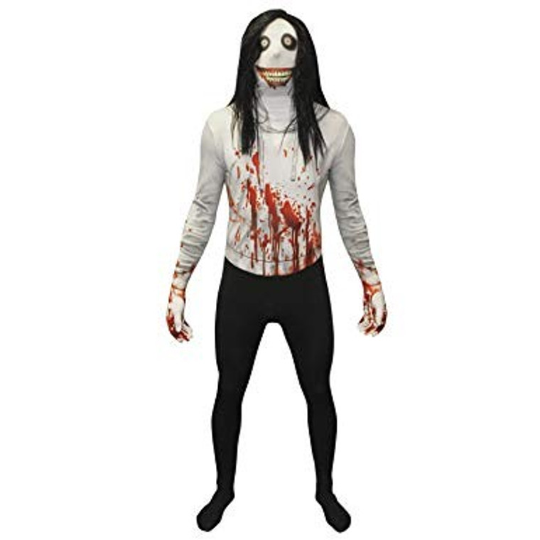 Jeff The Killer Morphsuit With Wig