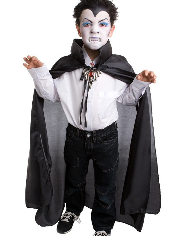 Black Child Cape with Stand Up Collar