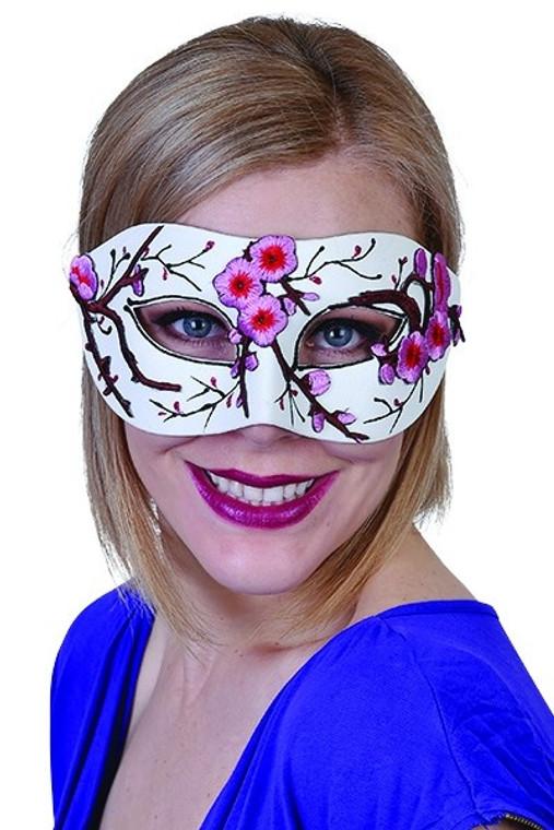 Pink Scarlet Violet Rose Eye Mask