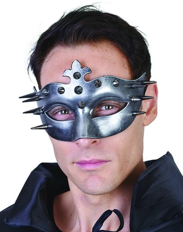 Dark Silver Ulric Eye Mask with Spikes
