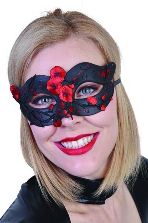 Red Scarlet Rose Eye Mask