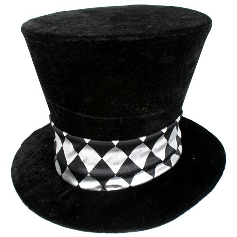 Black Mad Hatter Jumbo Top Hat