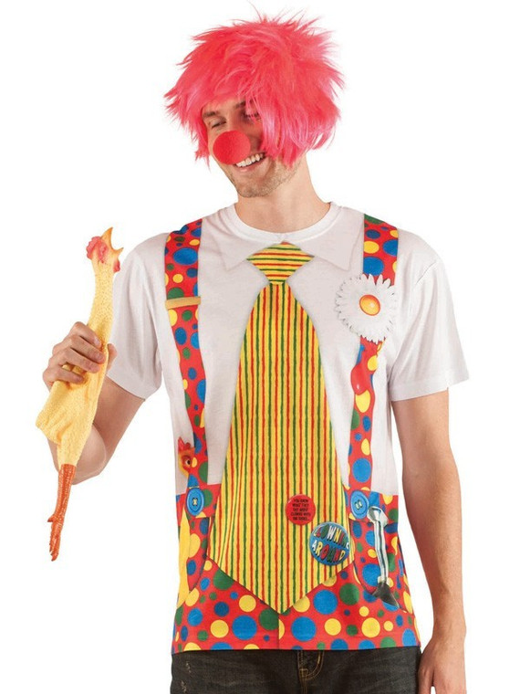 Clown Shirt With Big Tie