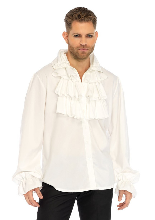 White Ruffle Front Pirate Shirt