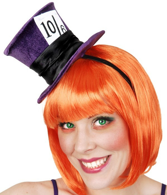 Mad Hatter Purple Mini Top Hat