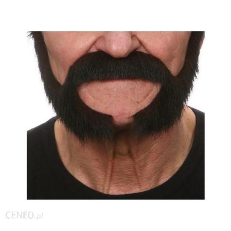 Black Moustache with Long Chops