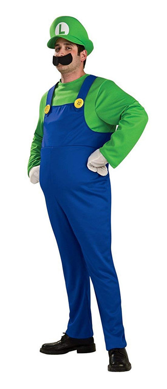 Luigi Deluxe Adult Costume - Super Mario Bros