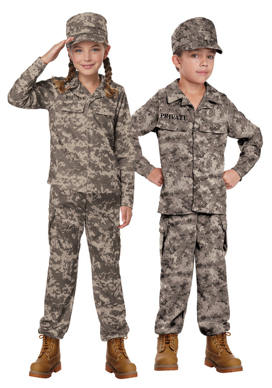 Camo Soldier Childs Costume