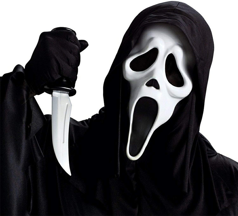 Scream Face Mask and Knife